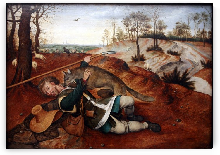 Wolf attack by Pieter Brueghel the Younger