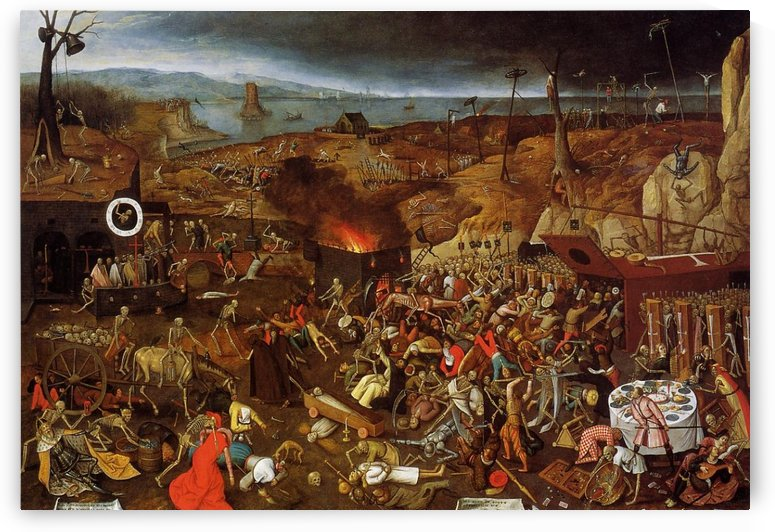 Death is in the village by Pieter Brueghel the Younger