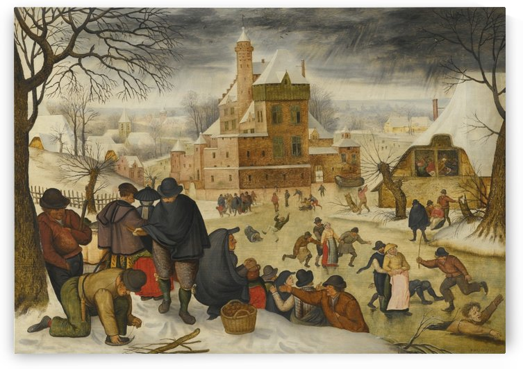 Winter on the lake by Pieter Brueghel the Younger