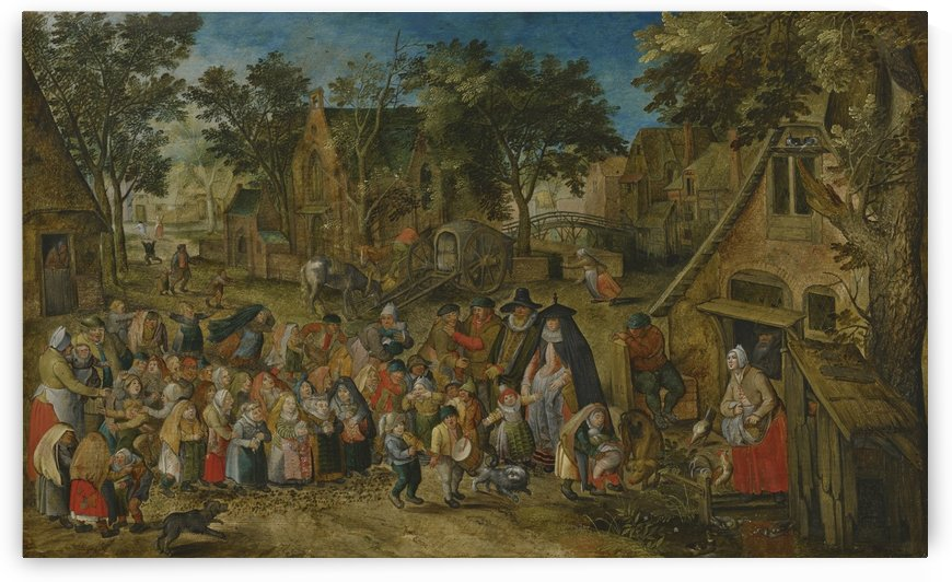 Children inside the village by Pieter Brueghel the Younger