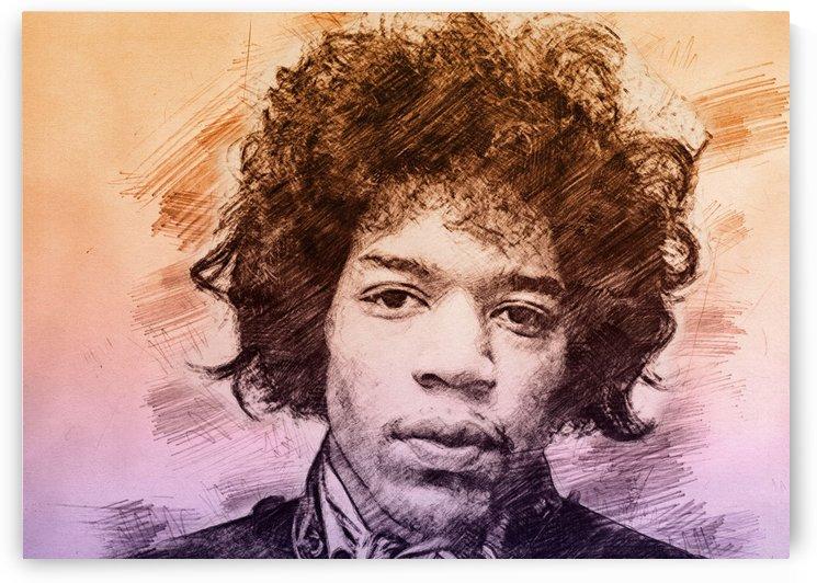 Jimi Hendrix by Gunawan Rb