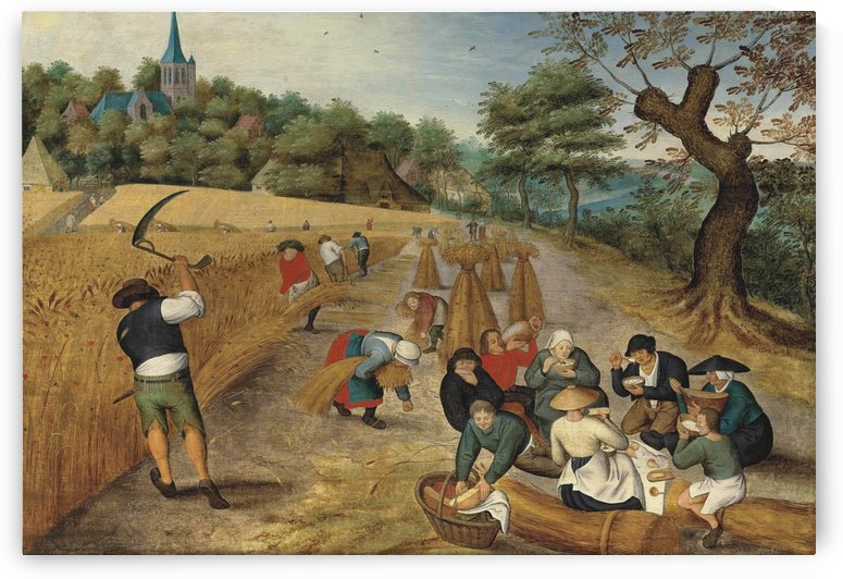 Working people in summer by Pieter Brueghel the Younger