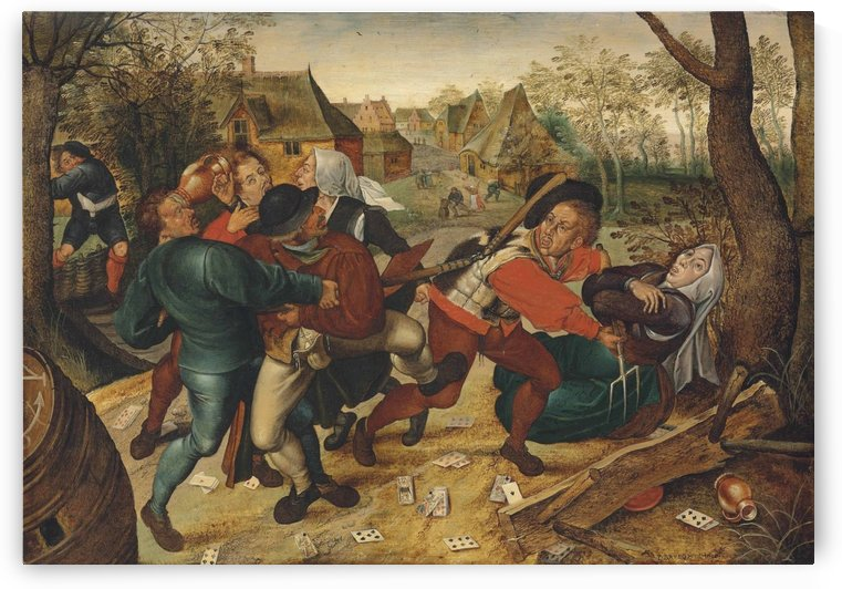 A country brawl by Pieter Brueghel the Younger