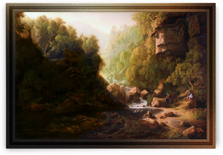 The Mountain Torrent by Francis Danby by xzendor7
