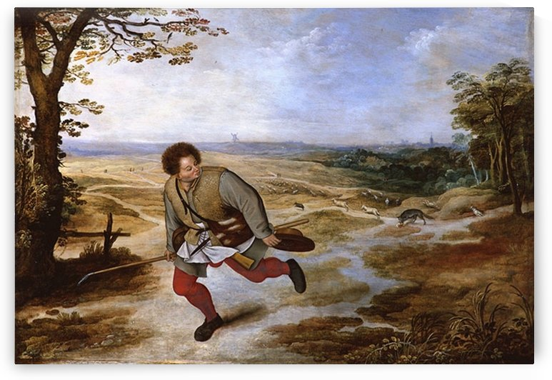 The shepherd running by Pieter Brueghel the Younger