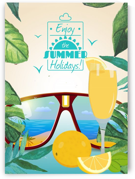 Enjoy The Summer Holiday with juice Orange by Gunawan Rb
