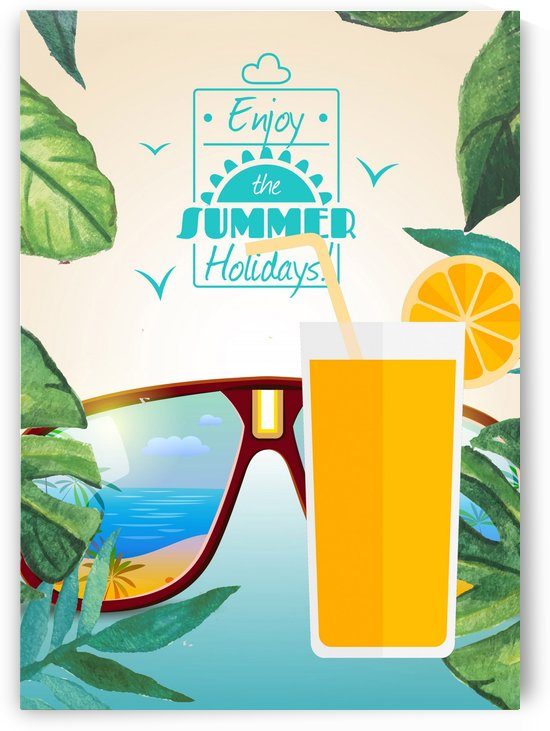 Enjoy The Summer Holiday with Orange juice by Gunawan Rb