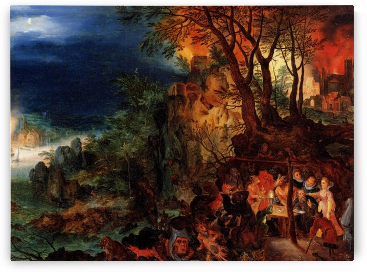 Temptation of Saint Anthony by Pieter Brueghel the Younger