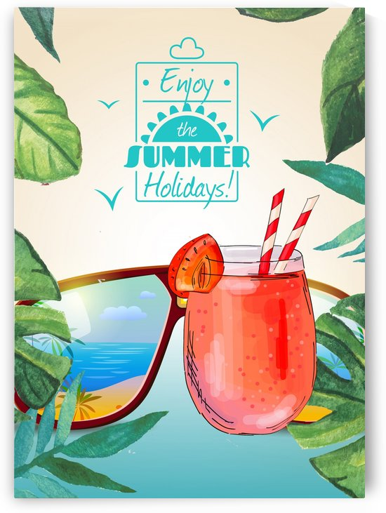 Enjoy The Summer Holiday with Strawberry Ice Cocktail by Gunawan Rb