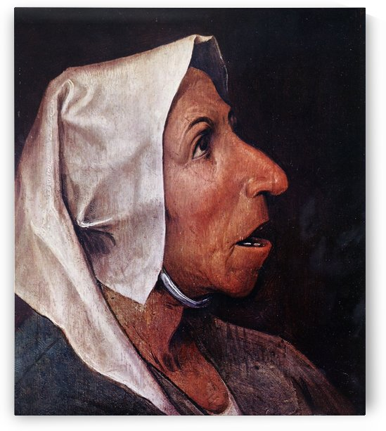 Old woman by Pieter Brueghel the Elder