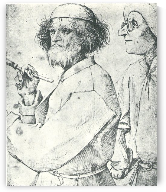 Painter and Patron by Pieter Brueghel the Elder