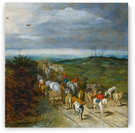Landscape with travellers by Pieter Brueghel the Elder