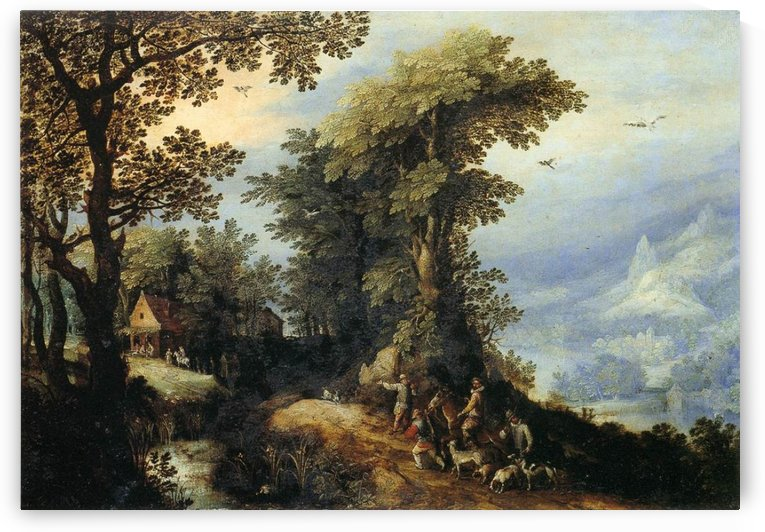 Landscape with Hunters by Pieter Brueghel the Elder