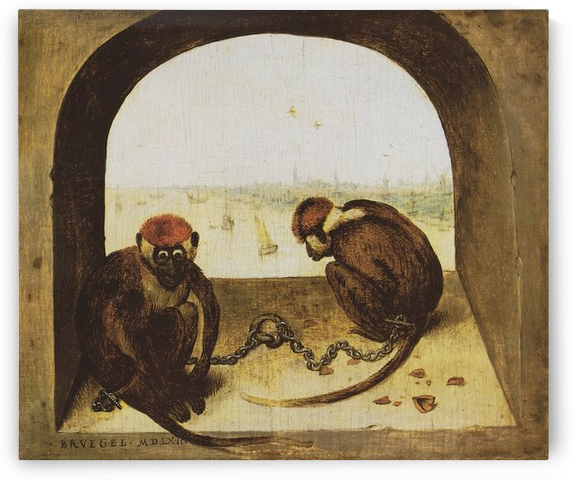 Two monkeys by Pieter Brueghel the Elder