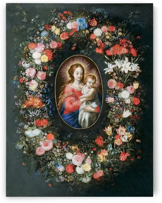 Bruegel Madonna and Child in a flower garland by Pieter Brueghel the Elder