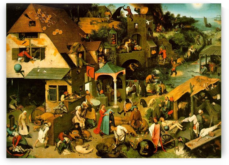 Netherlandish Proverbs by Pieter Brueghel the Elder
