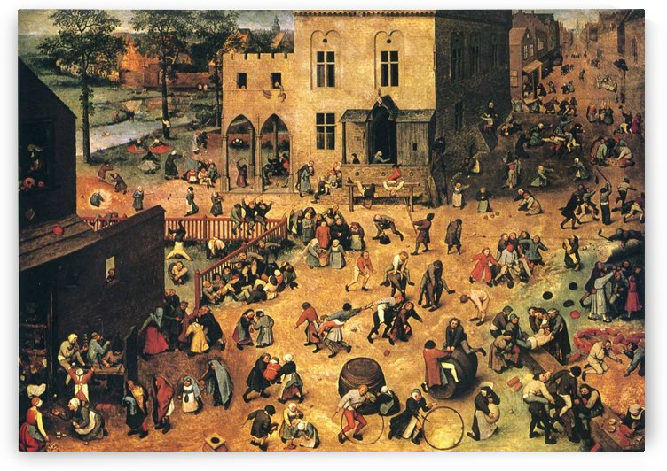 Kids games by Pieter Brueghel the Elder