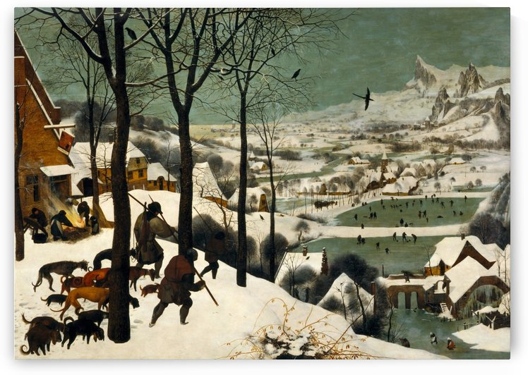 Hunters during winter by Pieter Brueghel the Elder