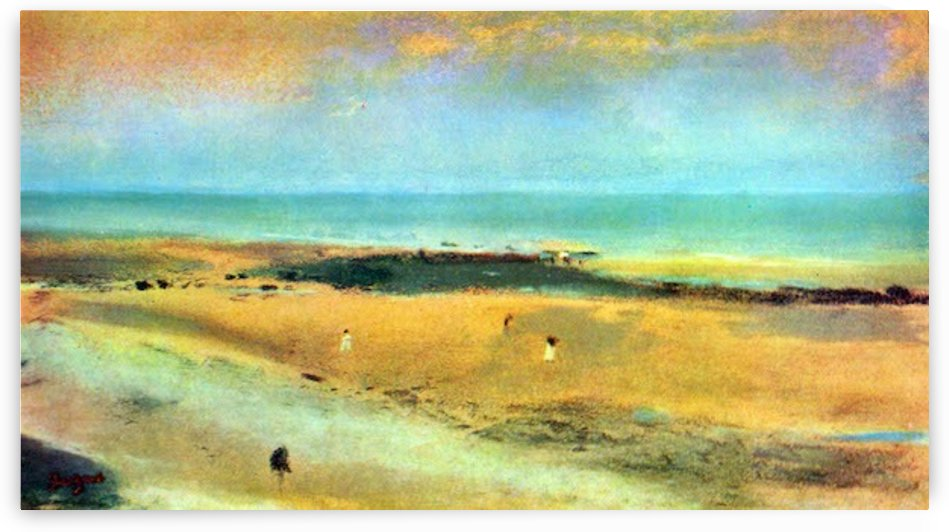 Beach at low tide 1 by Degas by Degas