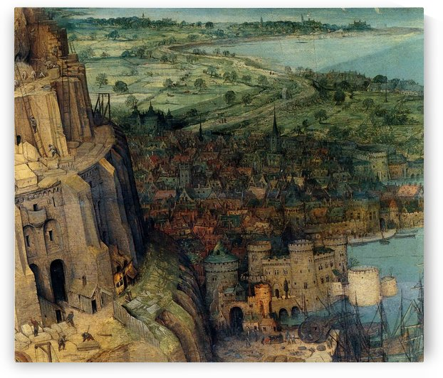 The Tower of Babel Detail city and port on the right hand side by Pieter Brueghel the Elder
