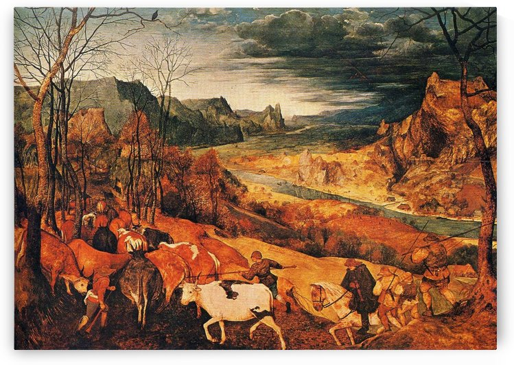 The Return of the Herd (Autumn) by Pieter Brueghel the Elder