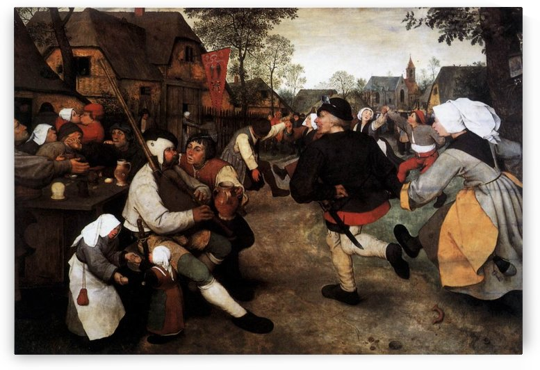Peasant dance by Pieter Brueghel the Elder