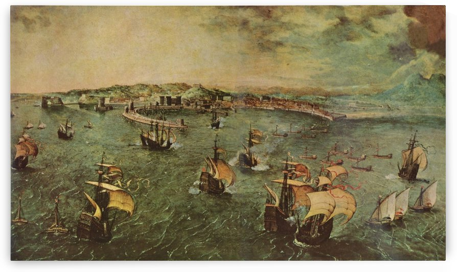 Naval battle in the Gulf of Naples by Pieter Brueghel the Elder