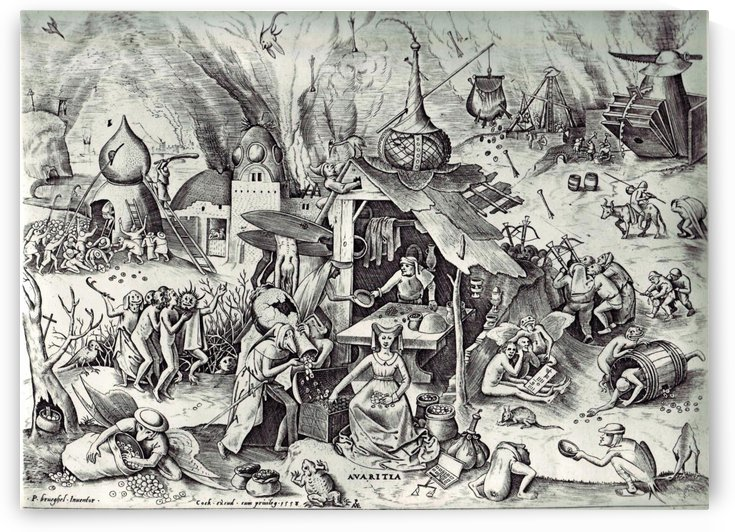 Greed by Pieter Brueghel the Elder