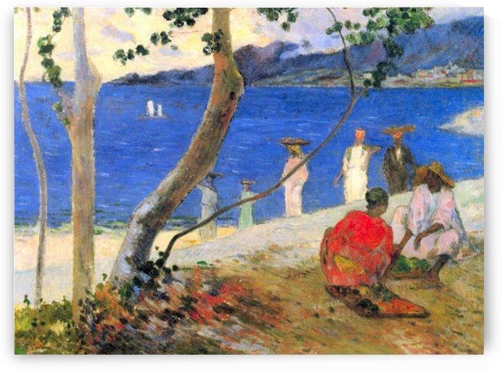 Beach Scene by Gauguin by Gauguin