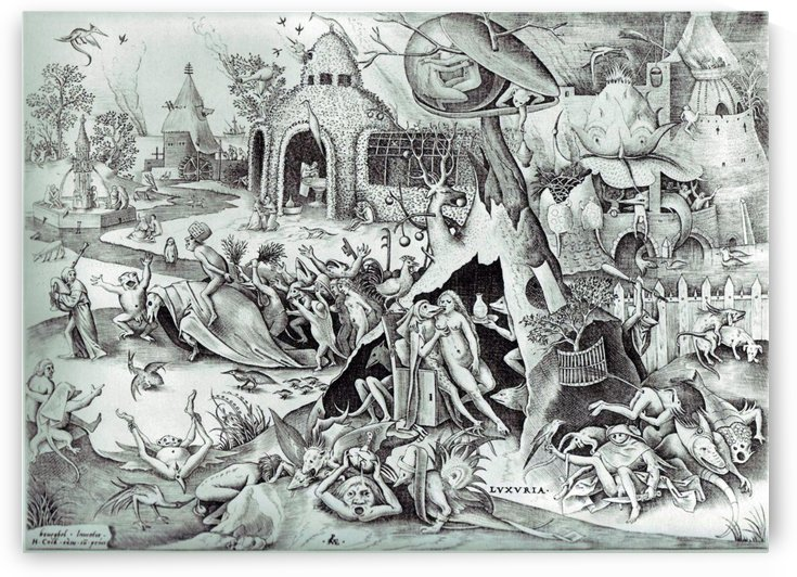 The seven deadly sins or the seven vices by Pieter Brueghel the Elder