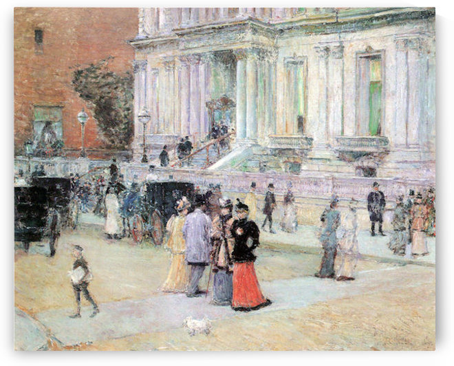 The Manhattan Club (The Villa of the Stewarts) by Hassam by Hassam