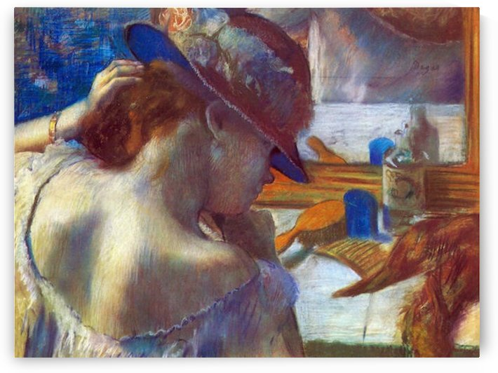 Before the mirror by Degas by Degas