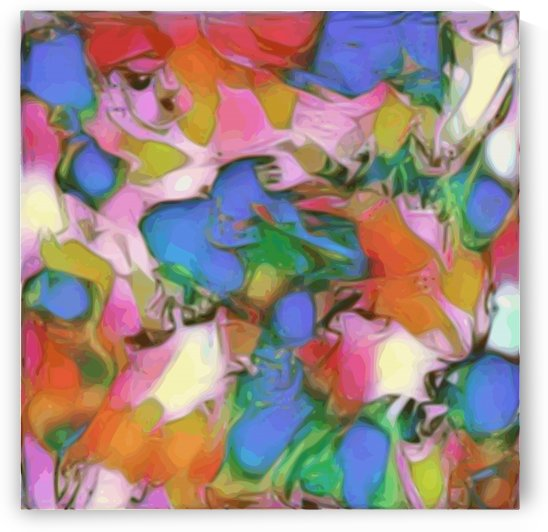 Paint Case - rainbow abstract swirls square wall art by Jaycrave Designs