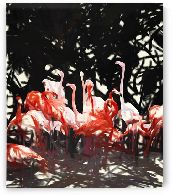 Flamingoes Under The Banyan Tree by 83 Oranges