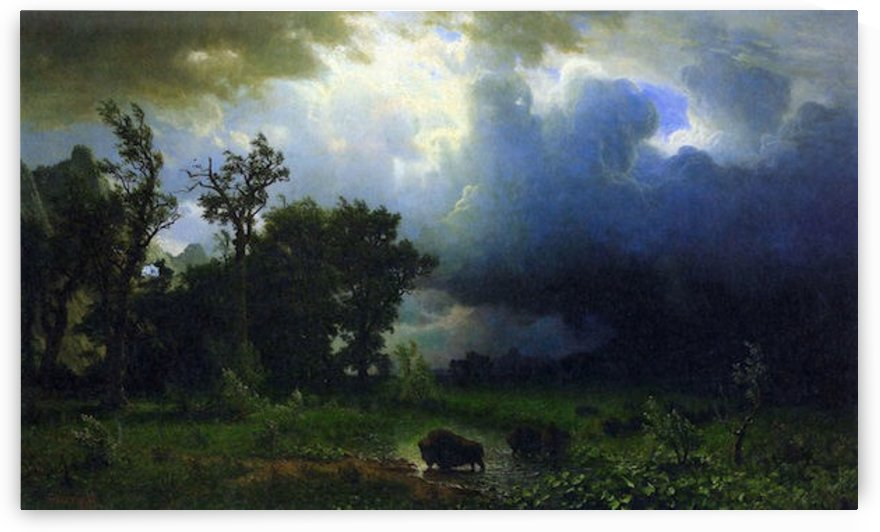 Before the Storm by Bierstadt by Bierstadt