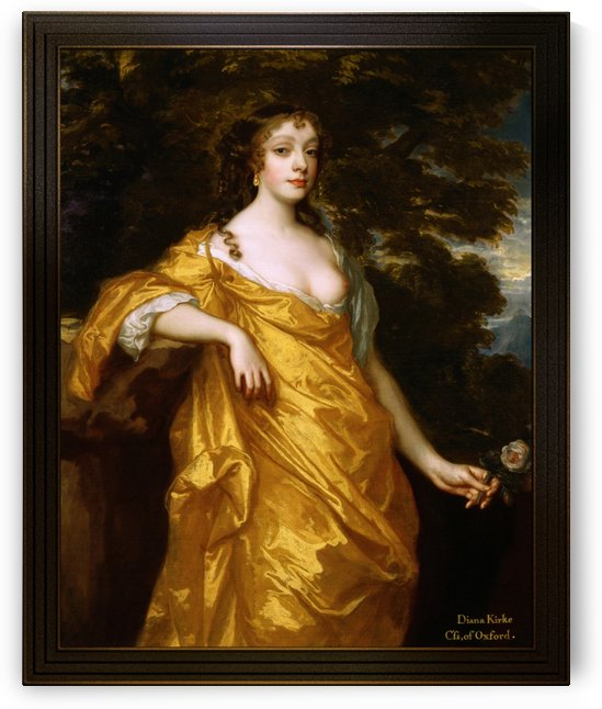Diana Kirke Later Countess of Oxford by Peter Lely by xzendor7
