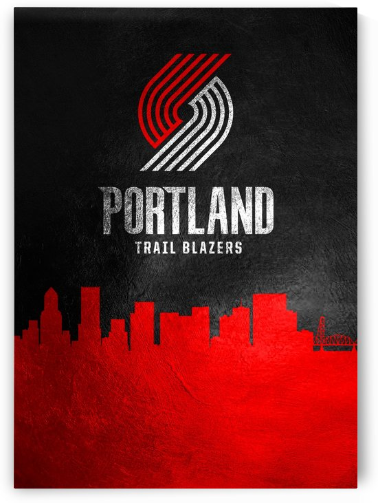 Portland Trailblazers Skyline by ABConcepts