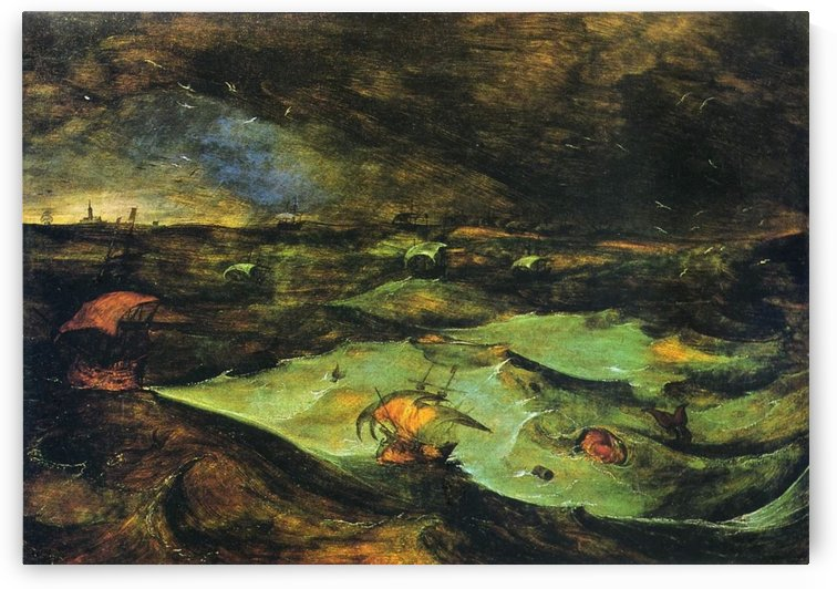 Storm at Sea by Pieter Brueghel the Elder