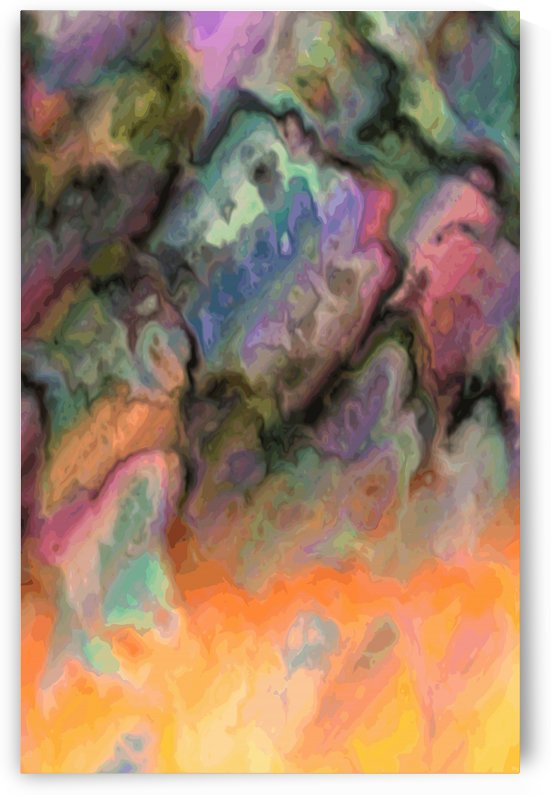 Jupiter High - rainbow and black marble pattern wall art by Jaycrave Designs