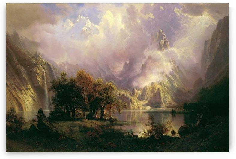 Bierstadt - Rocky Mountain landscape by Bierstadt