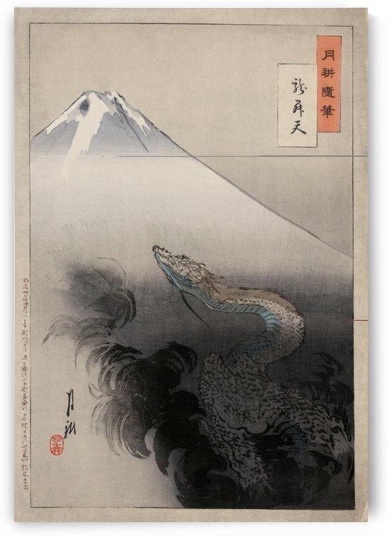 Mt. Fuji and Dragon by Ogata Gekko