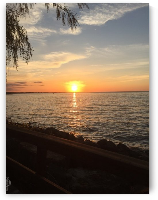 Sunset by the lake by  Jade Renteria