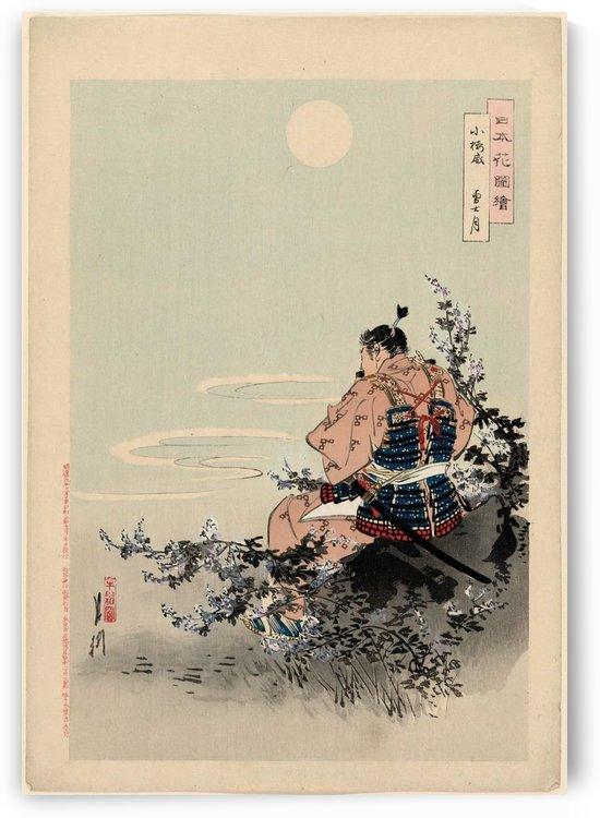 Kozakura odoshi. Yushizuki by Ogata Gekko