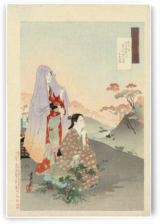 You Girls in Higashinaka by Ogata Gekko