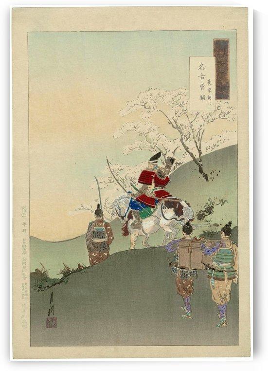 Yoshiie ason Makasa (mo) seki by Ogata Gekko