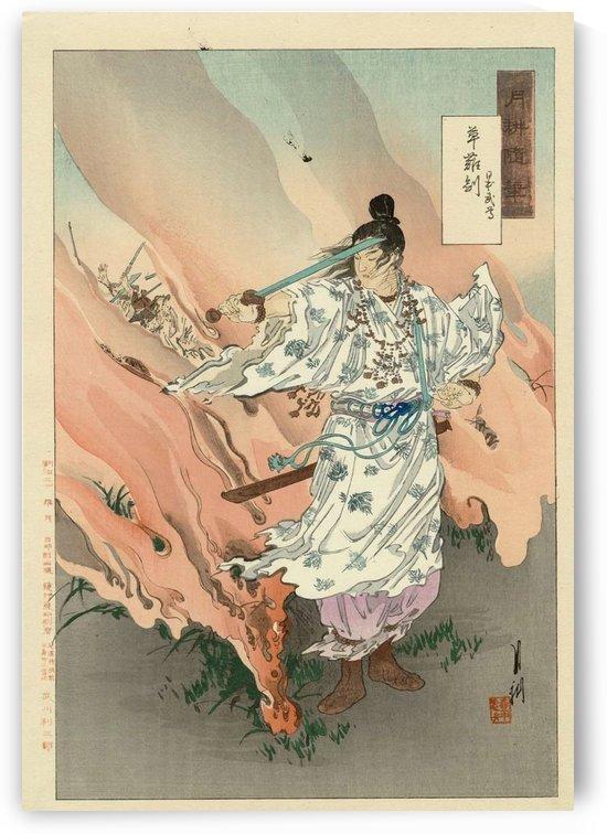 Japanese sword master by Ogata Gekko