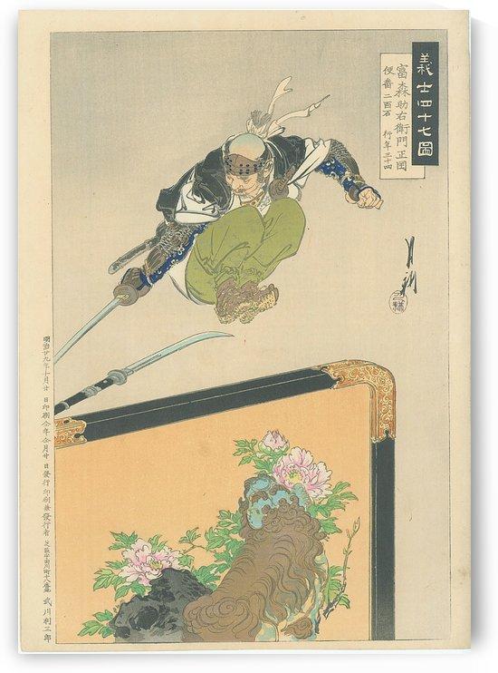 Warrior avoiding blade by Ogata Gekko