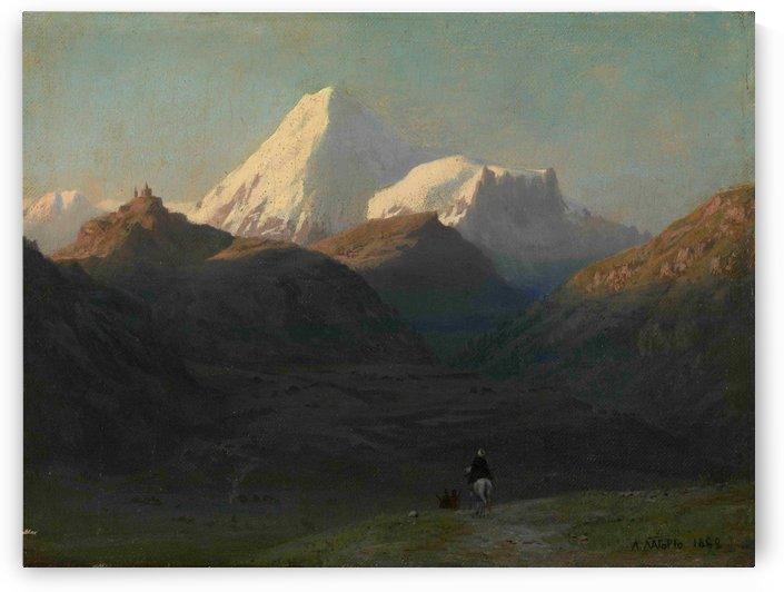 Mountain Landscape by Ogata Gekko