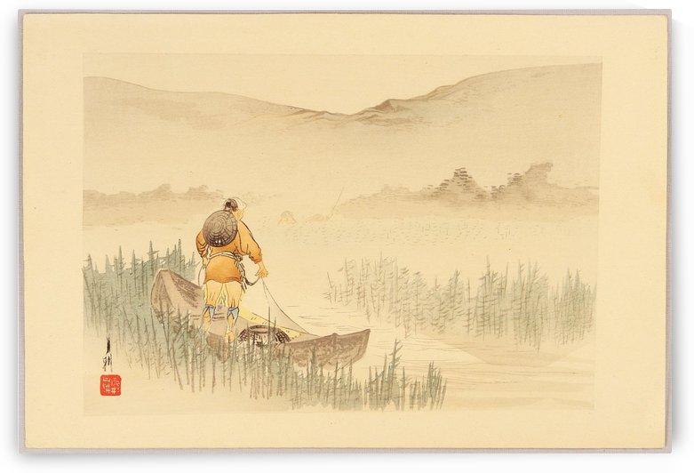 Fisherman by Ogata Gekko
