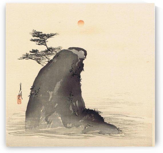 Rock and sea by Ogata Gekko
